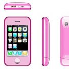 Pink Color KA08 Unlocked Cell Phone AT&T-Mobile Dual SIM Quad band Mobile Phone (Free Shipping)