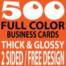 500 Full Color Double Sided Business Cards