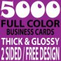 5,000 Double sided Business Cards