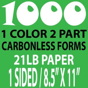 1000 8x11 carbonless Forms