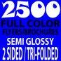 2500 8.5 x 11 Tri-Fold Brochures