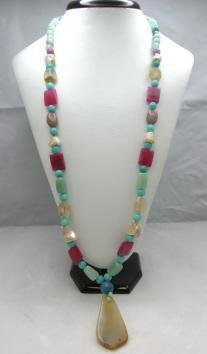 Bohemian Style Natural gemstone Necklace NEW Low Price!
