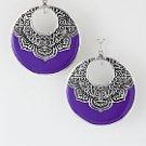 Purple loop earrings