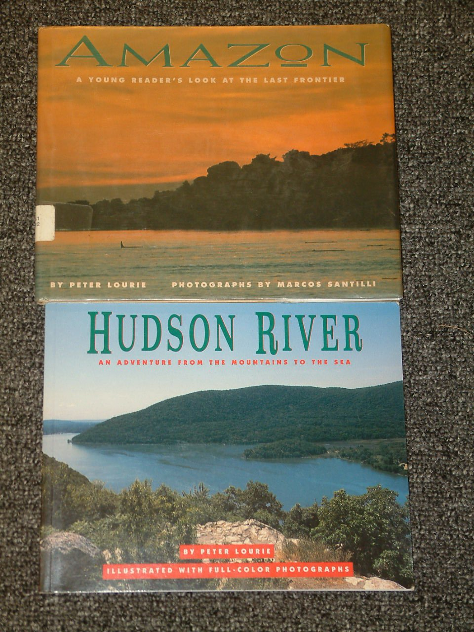 2 Peter Lourie books Hudson River signed by author and Amazon
