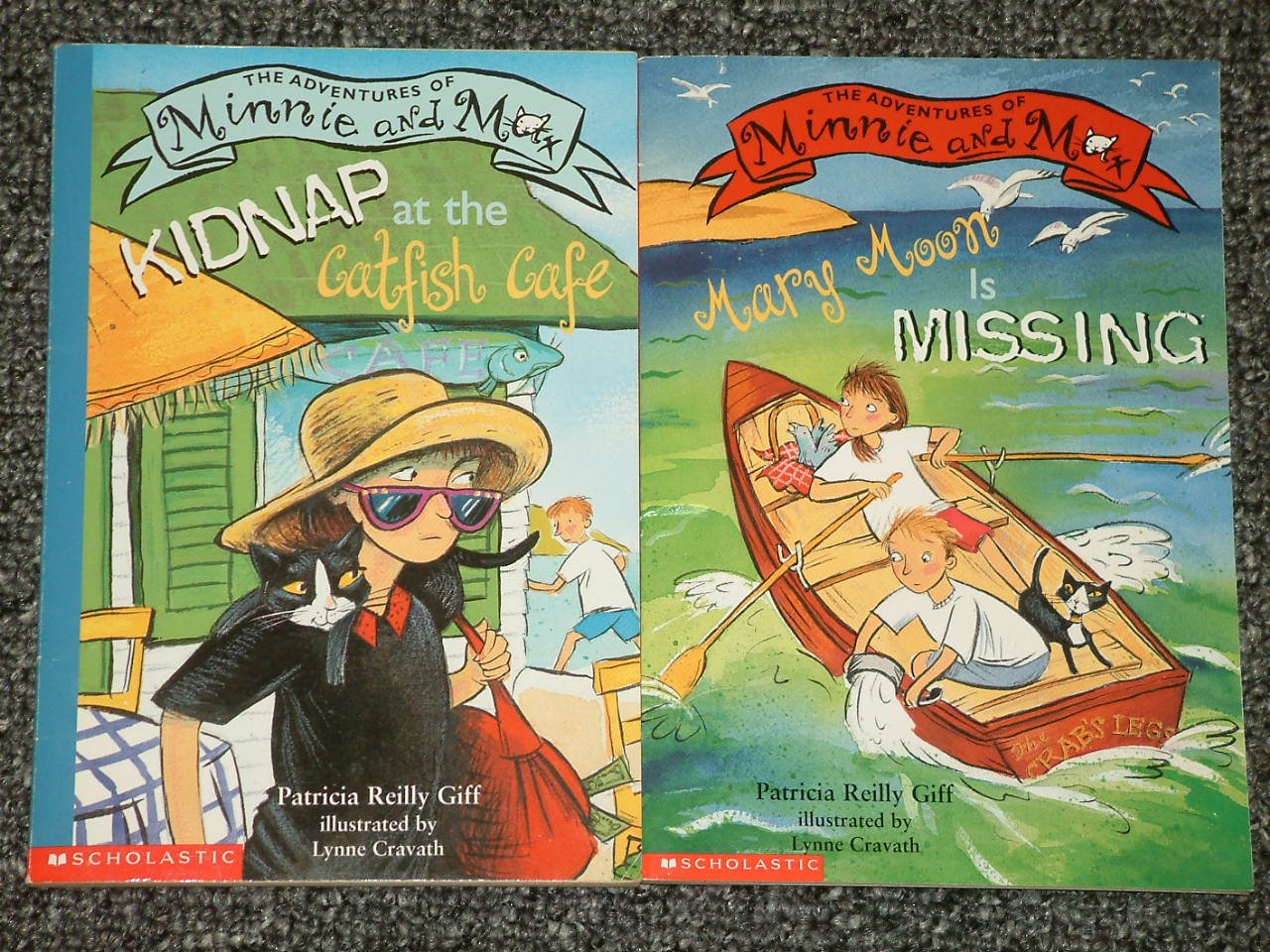 2 The Adventures of Minnie and Max books by Patricia Reilly Giff