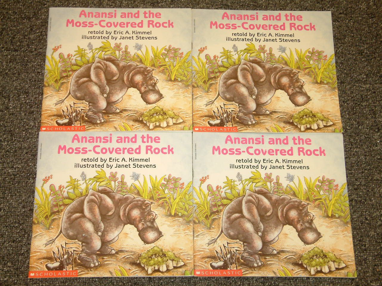 4 copies of Anansi and the Moss-Covered Rock by Eric A. Kimmel and Janet Stevens