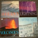 6 by Seymour Simon, Oceans signed by the author, Volcanoes, Sharks