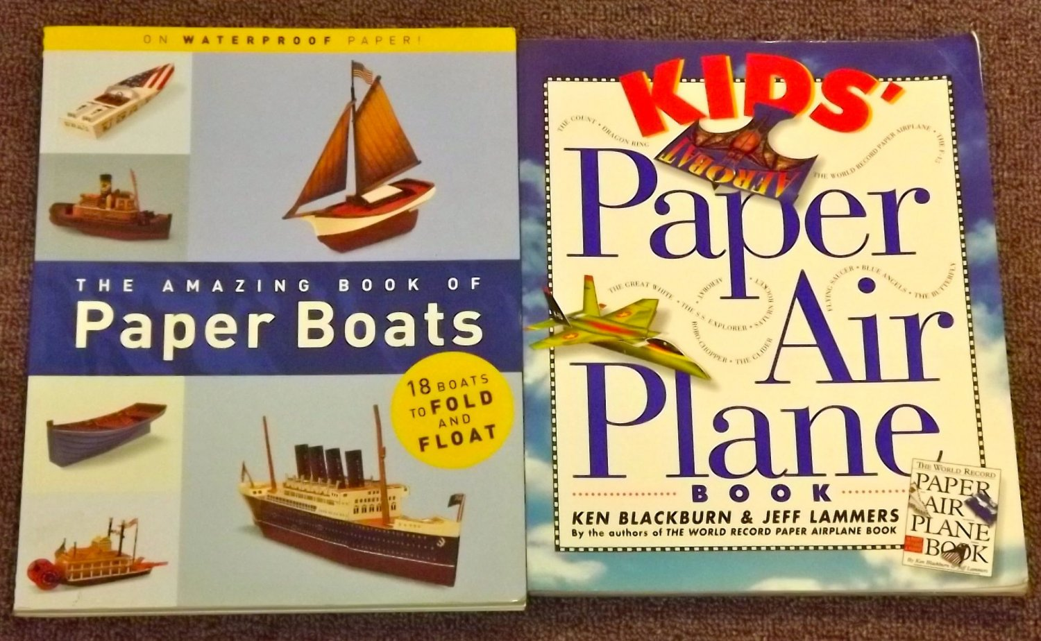The Amazing Book of Paper Boats and Kids Paper Air Plane Book