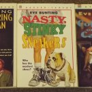 3 books by Eve Bunting Nasty Stinky Sneakers, Coffin on a Case