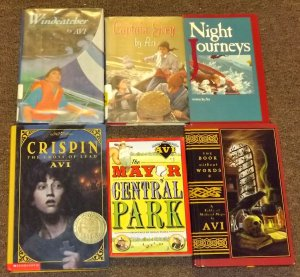 6 Avi books Crispin, The Mayor of Central Park, Captain Grey