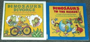 Dinosaurs Divorce and Dinosaurs to the Rescue by Marc Brown
