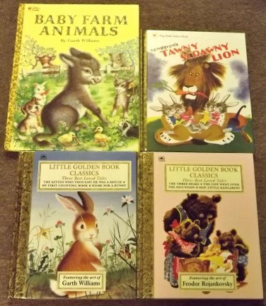 4 Golden Books Home for a Bunny, The Three Bears, Garth Williams, Tennegren