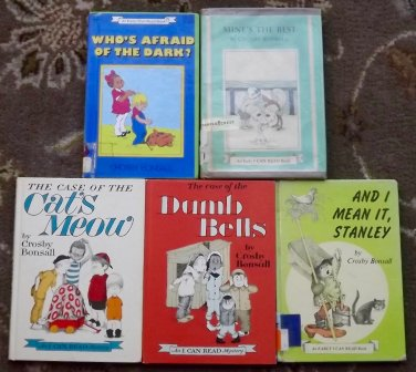 5 Crosby Bonsall books The Case of the Dumb Bells, The Case of the Cat's Meow