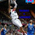 TYSON CHANDLER 2012 TEAM USA BASKETBALL OLYMPIC CARD