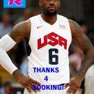 LEBRON JAMES 2012 TEAM USA BASKETBALL OLYMPIC CARD