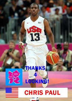 a6a3d3974 CHRIS PAUL 2012 TEAM USA BASKETBALL OLYMPIC CARD