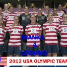 2012 TEAM USA OLYMPIC SOCCER CARD @NEW!@ HOPE SOLO, ABBY WAMBACH, MEGAN RAPINOE