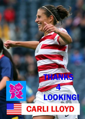 CARLI LLOYD 2012 TEAM USA OLYMPIC SOCCER CARD