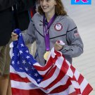 KATIE LEDECKY 2012 TEAM USA OLYMPIC CARD *** GOLD MEDAL WINNER!***