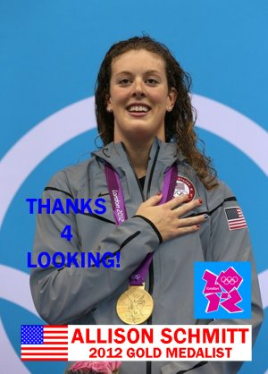 ALLISON SCHMITT 2012 TEAM USA OLYMPIC CARD *** GOLD MEDAL WINNER!***