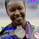 CARMELITA JETER 2012 TEAM USA OLYMPIC CARD *** SILVER MEDAL WINNER!***