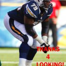 MIKE HARRIS 2012 SAN DIEGO CHARGERS FOOTBALL CARD