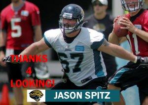 JASON SPITZ 2012 JACKSONVILLE JAGUARS FOOTBALL CARD