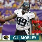 C.J. MOSLEY 2012 JACKSONVILLE JAGUARS FOOTBALL CARD