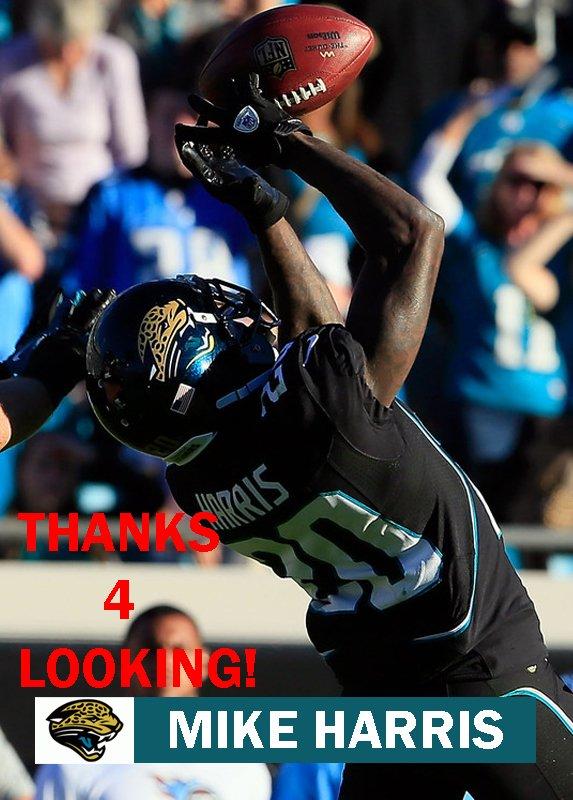 MIKE HARRIS 2012 JACKSONVILLE JAGUARS FOOTBALL CARD