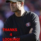 JIM HARBAUGH 2012 SAN FRANCISCO 49ERS FOOTBALL CARD