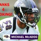 MICHAEL McADOO 2012 BALTIMORE RAVENS FOOTBALL CARD