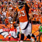 STEVEN JOHNSON 2013 DENVER BRONCOS FOOTBALL CARD