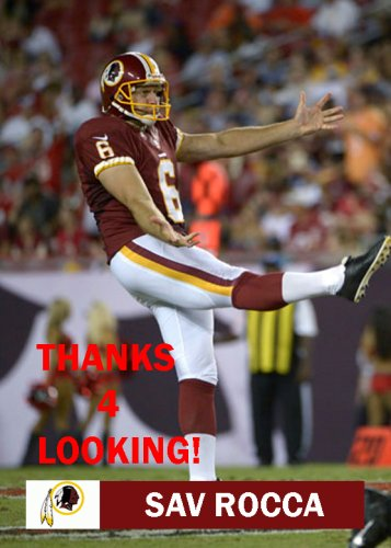 SAV ROCCA 2013 WASHINGTON REDSKINS FOOTBALL CARD
