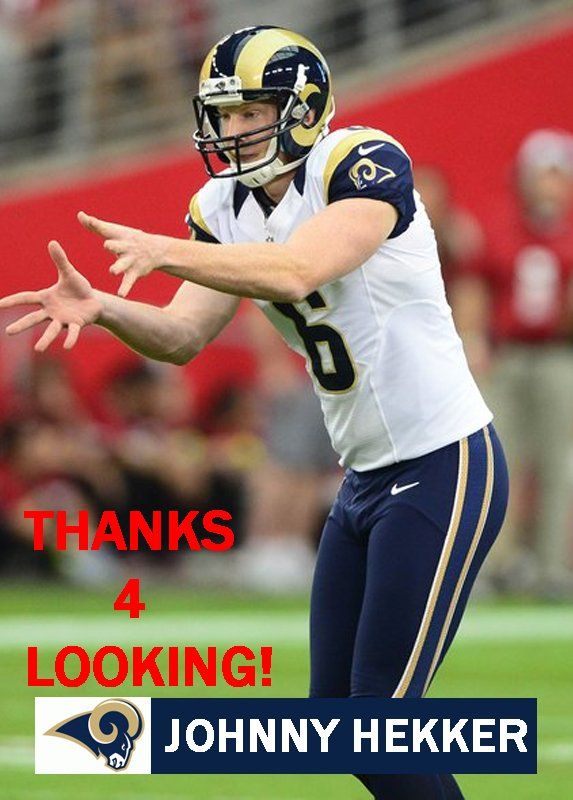 JOHNNY HEKKER 2013 ST. LOUIS RAMS FOOTBALL CARD
