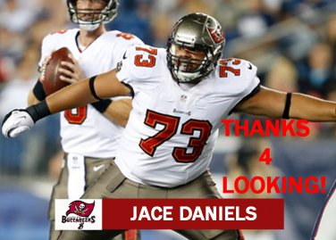 JACE DANIELS 2013 TAMPA BAY BUCCANEERS FOOTBALL CARD