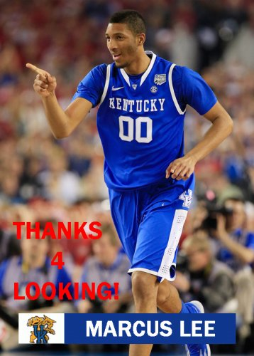 MARCUS LEE 2013-14 KENTUCKY WILDCATS BASKETBALL CARD