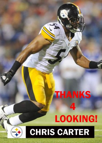CHRIS CARTER 2012 PITTSBURGH STEELERS FOOTBALL CARD