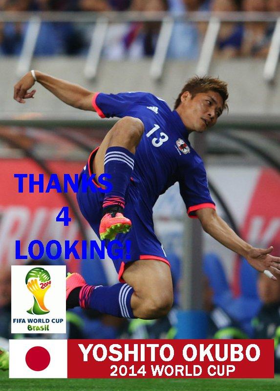 YOSHITO OKUBO JAPAN 2014 FIFA WORLD CUP CARD