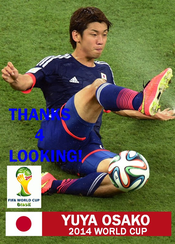 YUYA OSAKO JAPAN 2014 FIFA WORLD CUP CARD