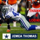 JEMEA THOMAS 2014 DALLAS COWBOYS FOOTBALL CARD