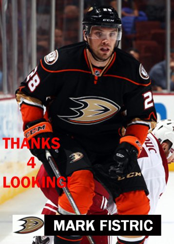 MARK FISTRIC 2014-15 ANAHEIM DUCKS HOCKEY CARD