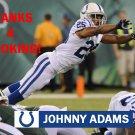 JOHNNY ADAMS 2014 INDIANAPOLIS COLTS FOOTBALL CARD