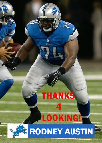 RODNEY AUSTIN 2014 DETROIT LIONS FOOTBALL CARD