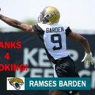 RAMSES BARDEN 2014 JACKSONVILLE JAGUARS FOOTBALL CARD