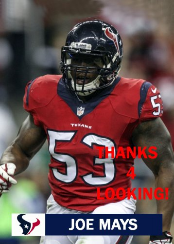 JOE MAYS 2013 HOUSTON TEXANS FOOTBALL CARD