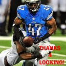 NATE NESS 2014 DETROIT LIONS FOOTBALL CARD