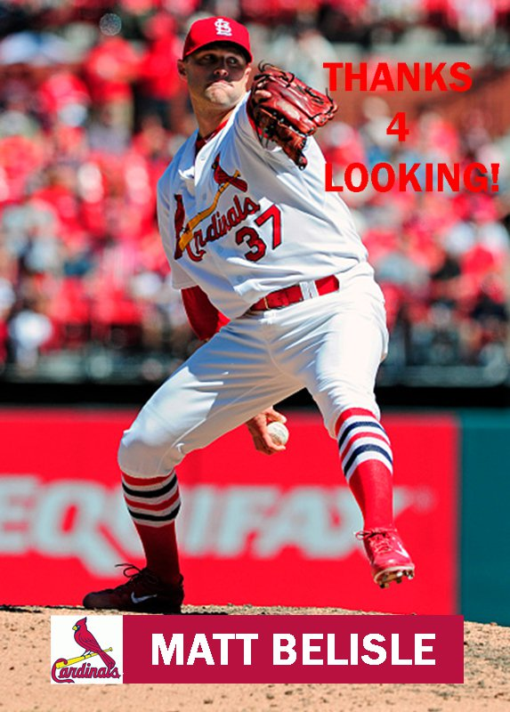 MATT BELISLE 2015 ST. LOUIS CARDINALS BASEBALL CARD