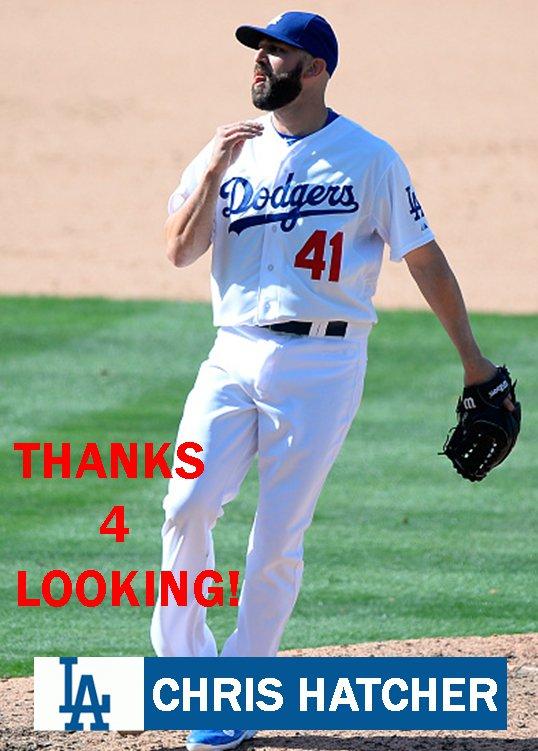 CHRIS HATCHER 2015 LOS ANGELES DODGERS  BASEBALL CARD