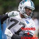 RAKIM COX 2015 CAROLINA PANTHERS FOOTBALL CARD