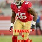 SHAWN LEMON 2015 SAN FRANCISCO 49ERS FOOTBALL CARD